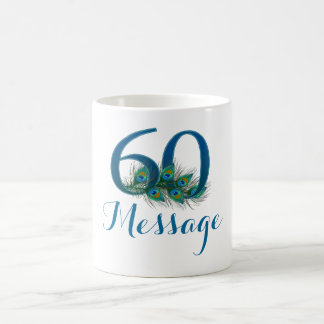 Add name personalized 60th Wedding anniversary mug