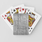 add name to get personalized grey steel playing cards