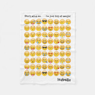 Add Name to Personalized Emoji Print Blanket