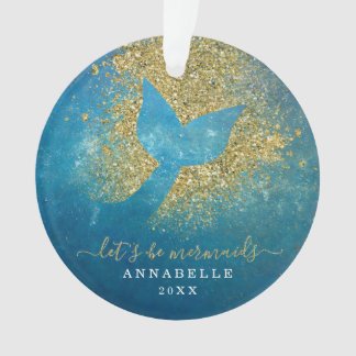 Add Name to Personalized Mermaid Tail Ornament