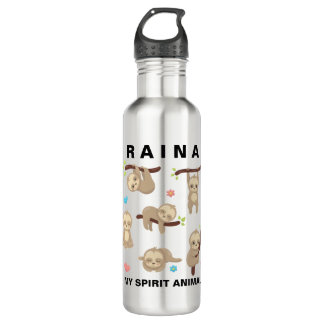 Add Name to Personalized Sloth - My Spirit Animal 710 Ml Water Bottle