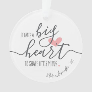 Add Name & Year, Personalized It Takes a Big Heart Ornament