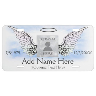 Add Photo and Name | Memorial License Plate