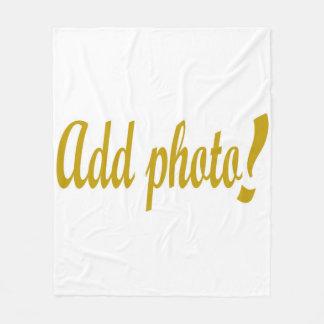 Add photo fleece blanket