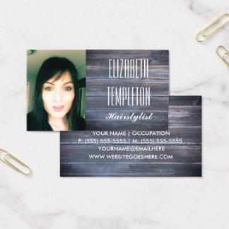 Add Photo Hairstylist or Any Profession Modern Business Card