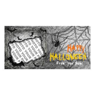 Add Photo Halloween Photo Card Bats Spider Horizon