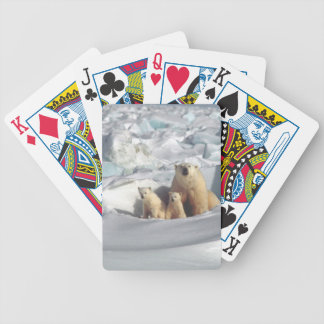 Add SLOGAN to Save Arctic Polar Bears Planet Ice Bicycle Playing Cards