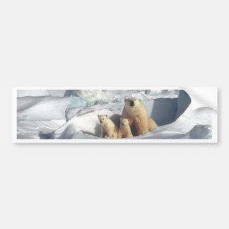 Add SLOGAN to Save Arctic Polar Bears Planet Ice Bumper Sticker