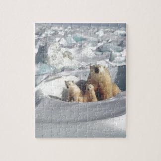 Add SLOGAN to Save Arctic Polar Bears Planet Ice Jigsaw Puzzle