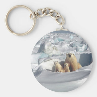 Add SLOGAN to Save Arctic Polar Bears Planet Ice Keychain
