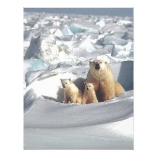 Add SLOGAN to Save Arctic Polar Bears Planet Ice Letterhead