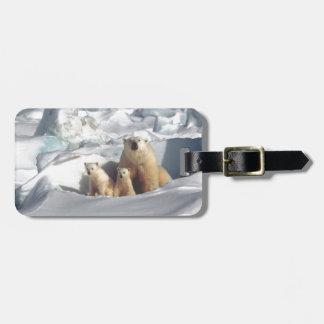 Add SLOGAN to Save Arctic Polar Bears Planet Ice Luggage Tag