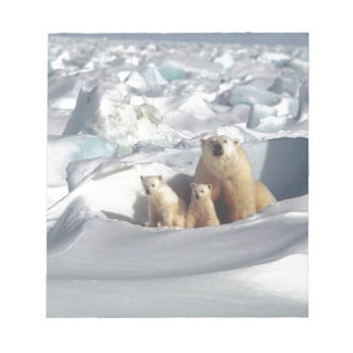 Add SLOGAN to Save Arctic Polar Bears Planet Ice Notepad