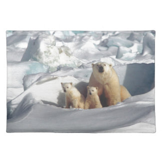 Add SLOGAN to Save Arctic Polar Bears Planet Ice Placemat