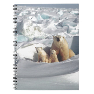 Add SLOGAN to Save Arctic Polar Bears Planet Ice Spiral Notebook