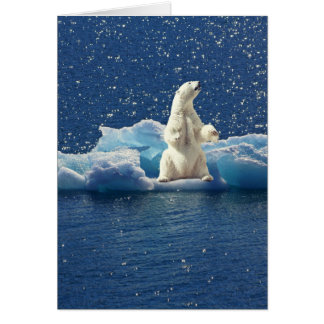 Add SLOGAN to Save Polar Bears Arctic Planet Ice Card