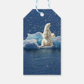 Add SLOGAN to Save Polar Bears Arctic Planet Ice Gift Tags
