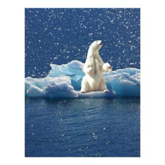Add SLOGAN to Save Polar Bears Arctic Planet Ice Letterhead
