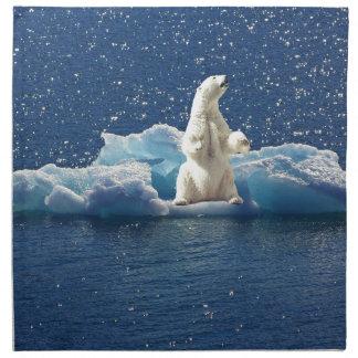 Add SLOGAN to Save Polar Bears Arctic Planet Ice Napkin