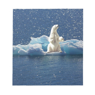 Add SLOGAN to Save Polar Bears Arctic Planet Ice Notepad