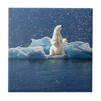 Add SLOGAN to Save Polar Bears Arctic Planet Ice Tile