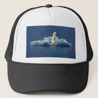 Add SLOGAN to Save Polar Bears Arctic Planet Ice Trucker Hat