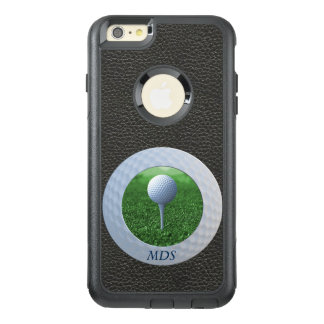 Add Square Photo to Golf Ball Frame Monogram Black OtterBox iPhone 6/6s Plus Case