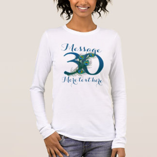 Add text 30th Wedding anniversary text T-shirt