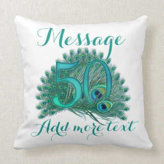Add text 50th Wedding anniversary  custom Pillow