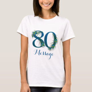 Add text 80th Birthday T-shirt