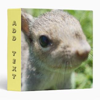 Add Text, Baby Squirrel, 3 Ring Binder
