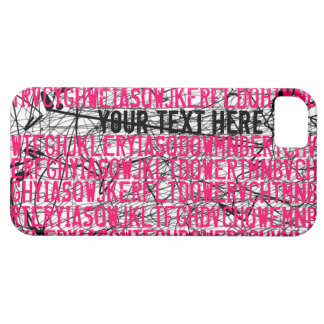 Add Text Letter Code Pink iPhone 5 Case-Mate Case Case For The iPhone 5