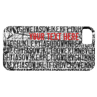 Add Text Letter Code Red iPhone 5 Case-Mate Case iPhone 5 Cases