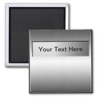 Add Text Metal Plate Look Magnet