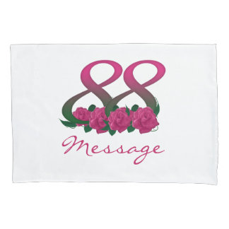 Add text name 88th birthday flower pillow cover