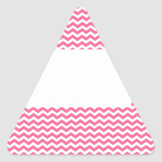 add text or image to this pink chevron triangle sticker