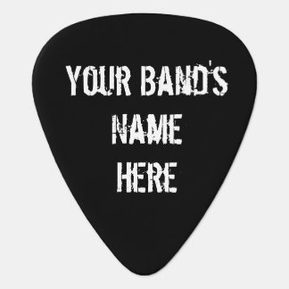 Add your Band's Name to this Black Skull Pick