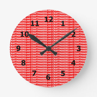 Add Your Business Logo Round Clock