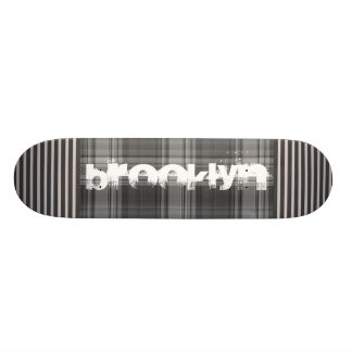 Add Your City Gray Plaid Custom Skate Board
