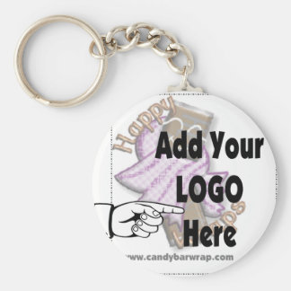 Add Your Company LOGO as Client or Employee Gifts Basic Round Button Keychain