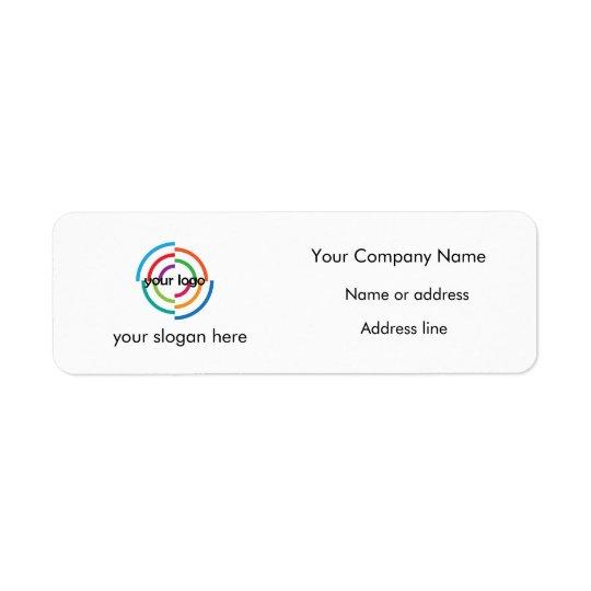 Add your Custom Logo custom address and slogan