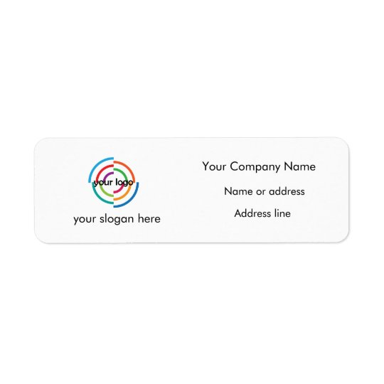 Add your Custom Logo custom address and slogan Return Address Label