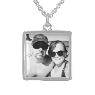 Add your Cute Couple Photo Personalized Sterling Silver Necklace