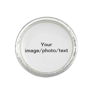 Add your favorite photo or drawing, and/or text ring