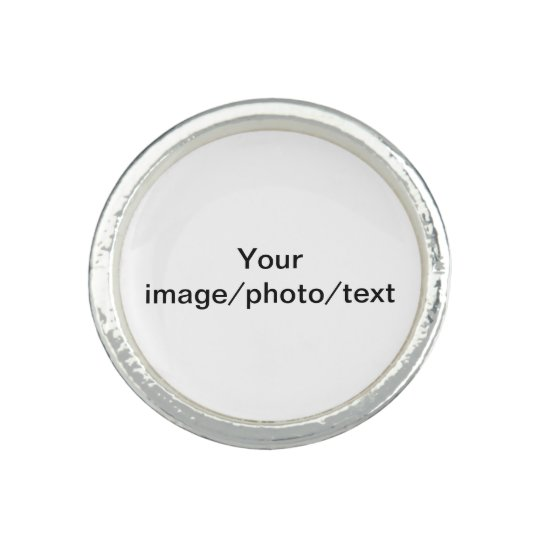 Add your favourite photo or drawing, and/or text ring