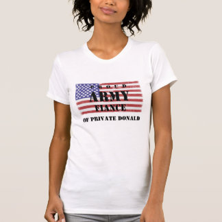 Add Your Fiance's Name Proud Army Finace Shirt