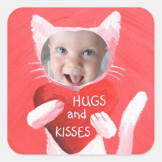 add your kid's photo personalized square sticker