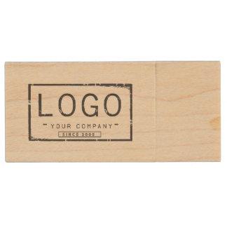 Add your logo custom storage wood USB flash drive