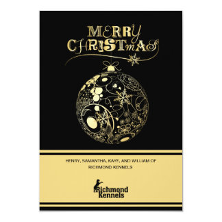 Add Your Logo Gold/Black Ornament Corporate Card