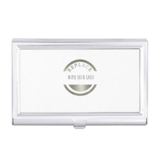 ADD Your LOGO PHOTO BRAND Professional Elegant Business Card Holder
